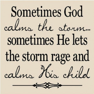 So true!! Life isn't always easy and sometimes people blame God for ...