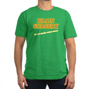 Brain Surgery Funny Men's Fitted T-Shirt dark by CafePress