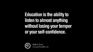 without losing your temper or your self confidence losing education