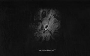 dark corner demons quotes lonely grayscale Wallpaper