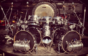 drummer Frank Beard's new 'hot rod' drum kit. Picture from Instagram ...