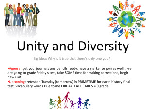 Short Diversity Quotes Unity and diversity