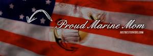 Proud Marine Mom Facebook Cover Photo