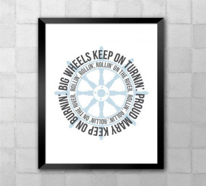 Tina Turner Proud Mary Song Lyric Quote 8x10 by LyricWall on Etsy, $9 ...