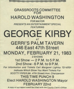 George Kirby entertains for Harold Washington 39 s Grassroots ...