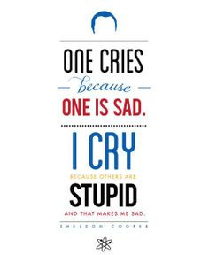 ... Sheldon Cooper ~ Big Bang Theory ~ Quote Poster by Carol (popartpress