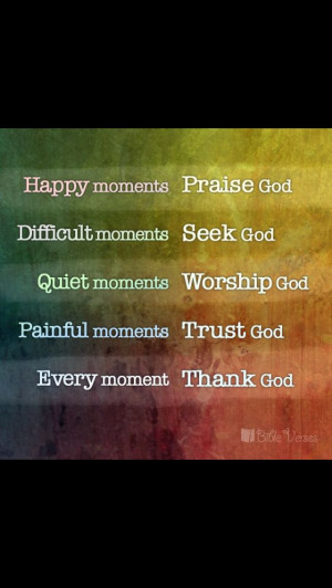 Happy moments, praise God....