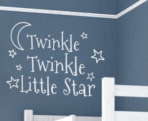 Twinkle Twinkle Little Star Baby's Room Vinyl Wall Decal Quote