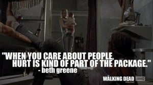 Quote | Who Said It: Beth Greene (Emily Kinney) | Show: The Walking ...