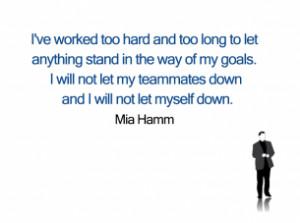 Printable Mia Hamm Quotes