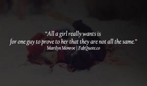 "Funny Marilyn Monroe – ""All a girl really wants"""