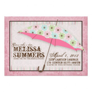 Floral April Showers Baby Shower Invitations from Zazzle.com