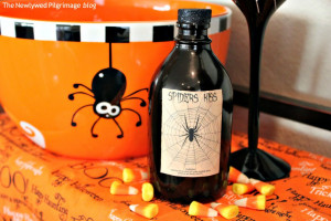 Halloween Potion Bottle Label Spooky Spider picture