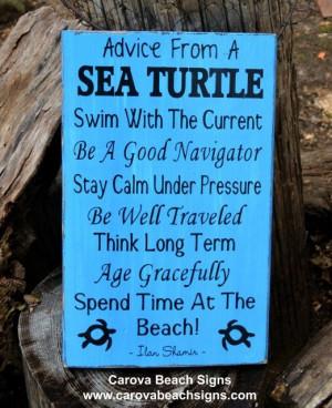 Sea Turtle, Sea Marine Life, Advice Ocean Poem Quotes, Beach Sayings ...