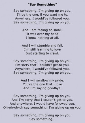 Say Something -Ian Axel, Chad Vaccarino, ft. Christina Aguilera