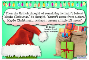 fantastic quote from 'How the Grinch Stole Christmas' to share with ...
