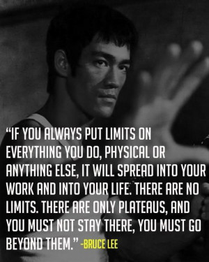 Motivational quote by Bruce Lee