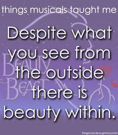 ॐ Broadway Musical Quotes ~ Beauty and the Beast More