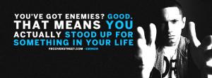 Got Enemies Eminem Quote Picture