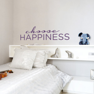choose happiness wall decal quote