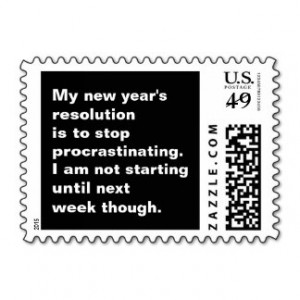 Funny Sarcastic New Year's Resolution Quote Postage Stamp