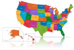SR22 Insurance State Guide US Map