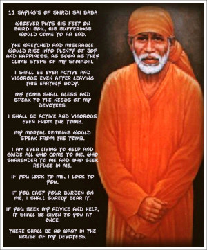 Shri Shirdi Sai speaks-23rd Jan/Latest News/ The power of Just One !!