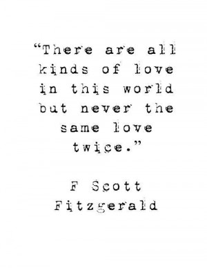 Scott Fitzgerald Quote - There are...