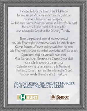 Adam Wilensky, Sr. Project Manager - Hunt Smoot Midfield Builders