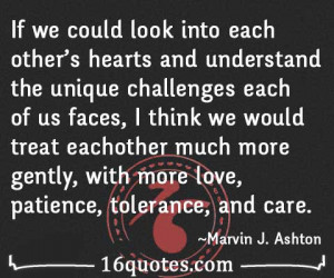 ... into each other s hearts and understand the unique challenges each of