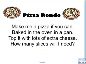 Pizza Rondo Song Pizza Poem