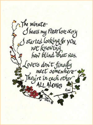 love poem, Rumi, quote, wedding, Valentine's Day, engaged, lovers ...