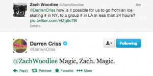 twitter Darren Criss zach woodlee EEEEEP HIS HAIR i;m crying also wow ...
