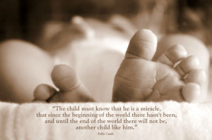 Picture of my baby's toes :) Quote by Pablo Casals