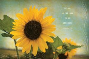 American Made Sunflower Inspirational Print