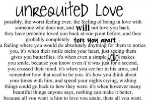 Unrequited Love #Love Quotes #Heartbreak Quotes #Teen Love Quotes