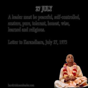 Srila Prabhupada Quotes For Month July 27