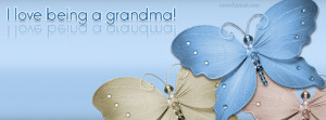 Love Being A Grandma Butterflies Facebook Cover Layout