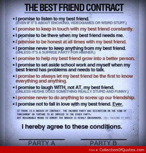 The Best Friend Contract ~ Best Quotes & Sayings
