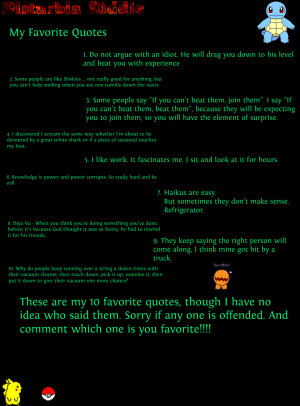 My Favorite Quotes and One-Liners!!!