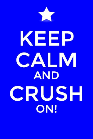 Keep calm, candy crush...of course I think I get a bit too irritated ...