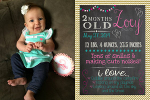 Custom order for Debiram Twin Monthly Baby Updates