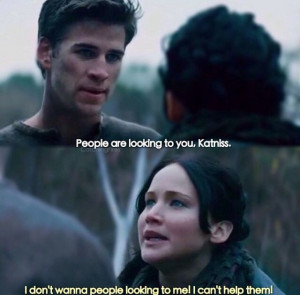 Gale and katniss in catching fire