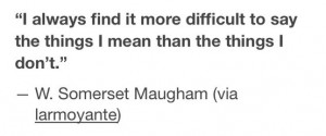 Somerset Maugham quote