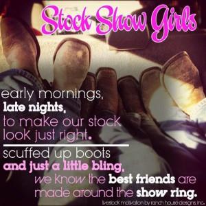 Stock Show Girls! Too cute!