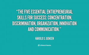 The five essential entrepreneurial skills for success: Concentration ...