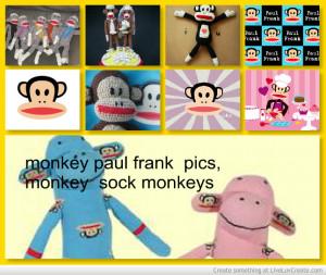 Monkey Paul Frank Sock Monkeys