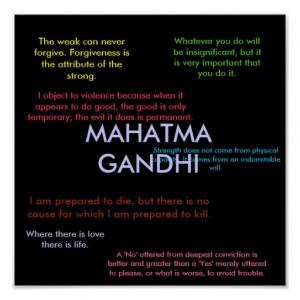 Gandhi Quotes Print