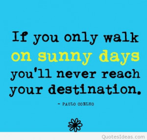 Sunny days summer quote