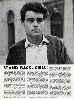 Ian McShane article from Pop Weekly 1962. Mentions his dad Harry ...